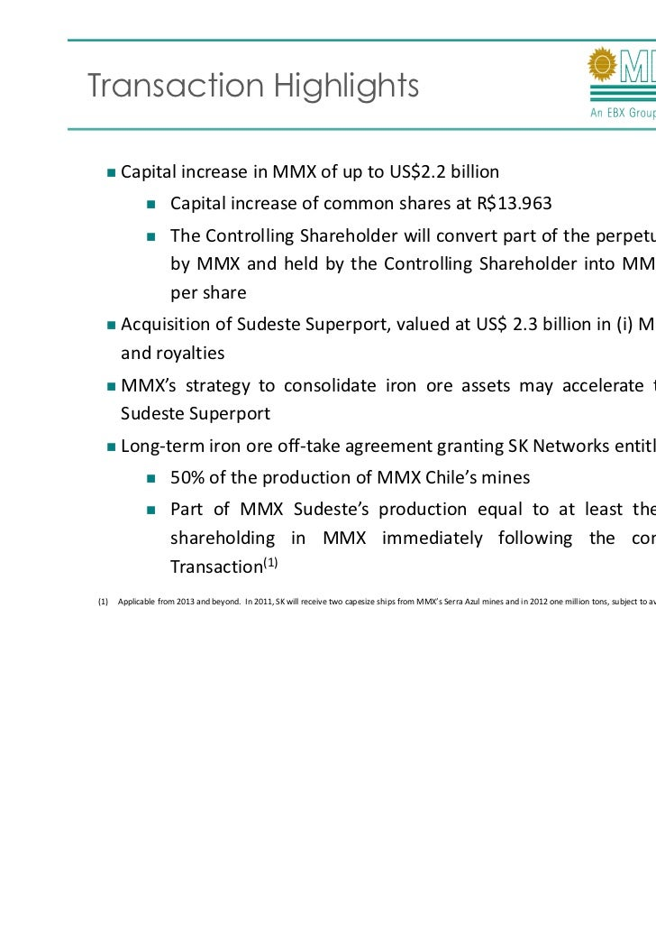 Presentation Preliminary Agreement With Sk Networks