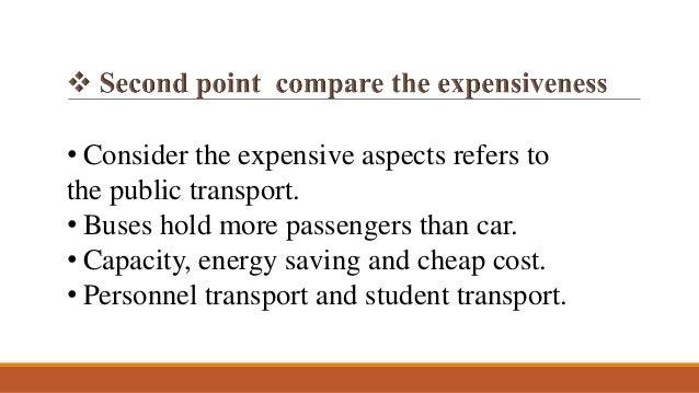 public transport vs private transport essay