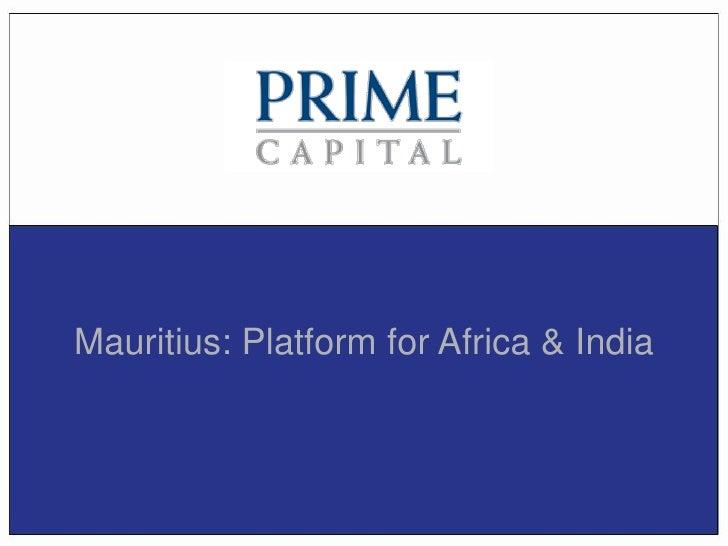 Mauritius: Platform for Africa & India
