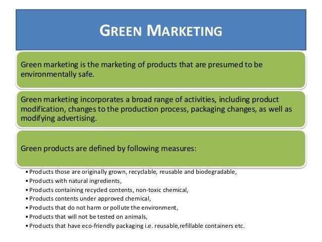 Green marketing principles