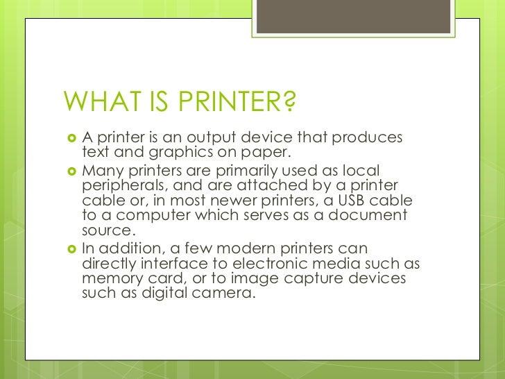 Type of printer ppt.
