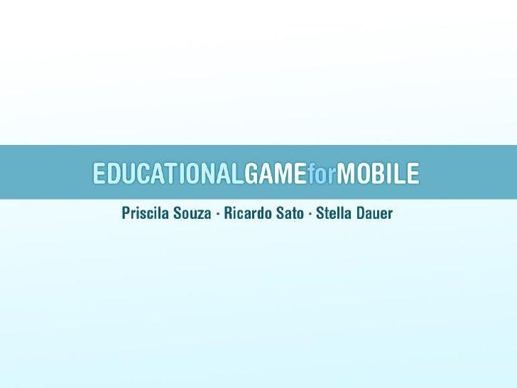 PropostaUm game educativo que ensina Japonês básico, com game designvoltado para o lúdico, para facilitar a absorção e a c...