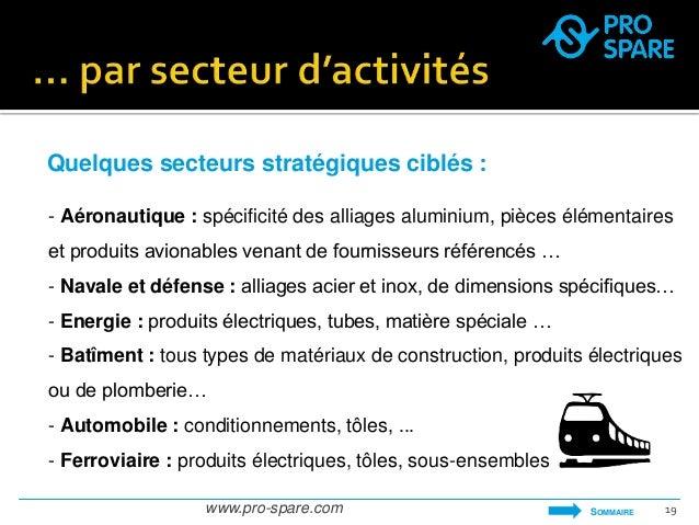 Quelques secteurs stratégiques ciblés :  - Aéronautique : spécificité des alliages aluminium, pièces élémentaires  et prod...