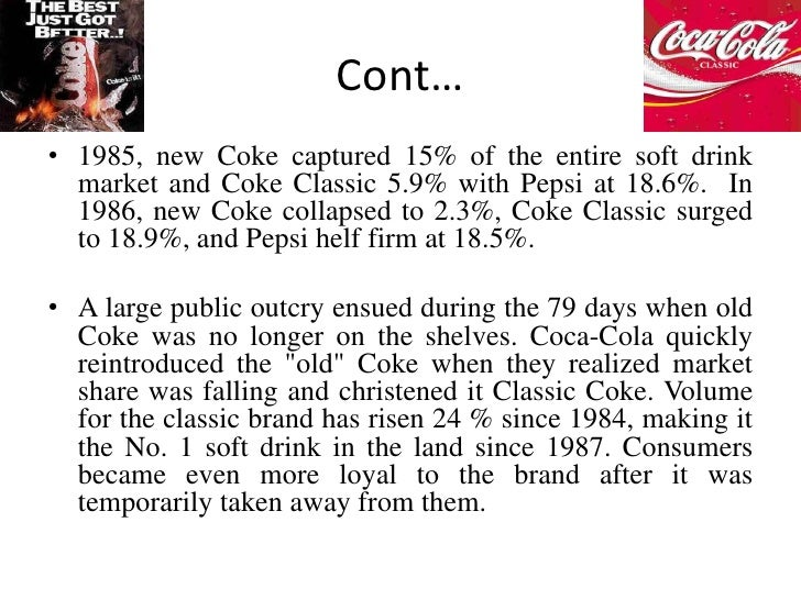 the decline in the new coke product Coca-cola may have just hit on its worst marketing idea since new coke by anne  their design solutions echo coke's new  coke is essentially repackaging its products in the generic pantone.