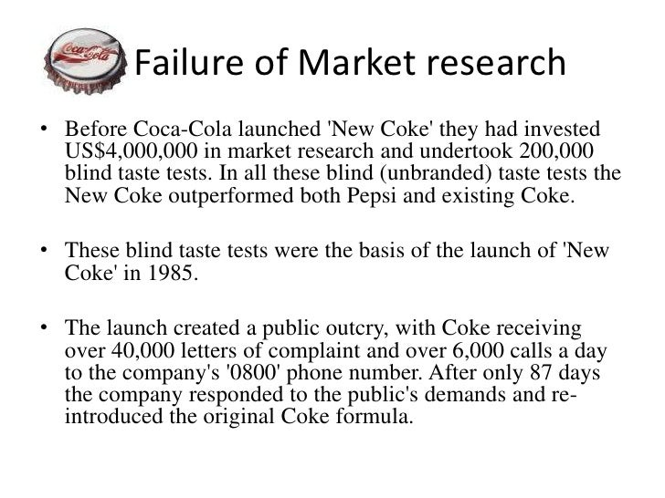 failure of the new coke case General instructions for running the new coke case study in class much has been written about the new coke new product development and launch in 1985 and there have been numerous case studies published in various textbooks, along with numerous books.