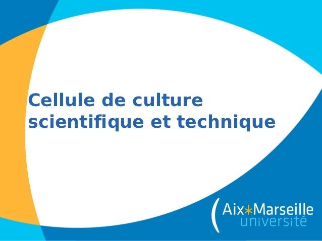 Cellule de culturescientifique et technique