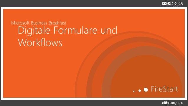 Microsoft Business Breakfast Digitale Formulare und Workflows