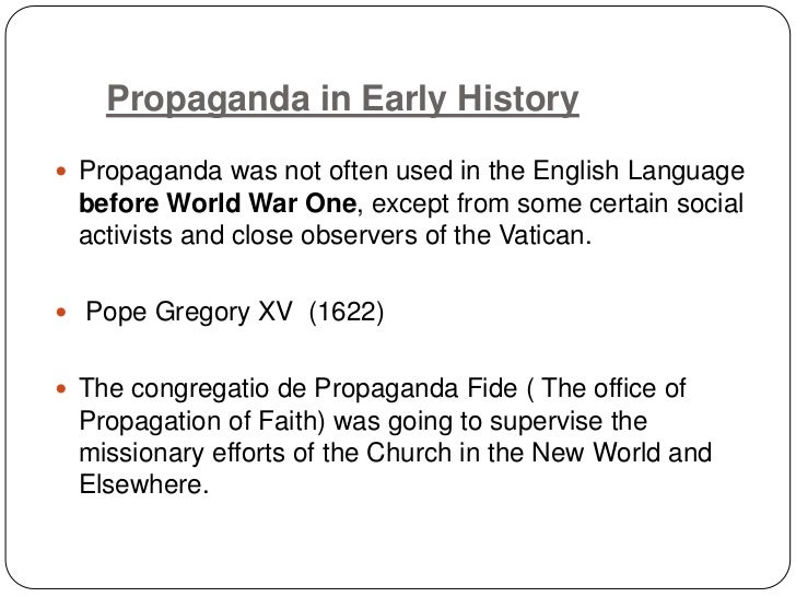 What is the propaganda model