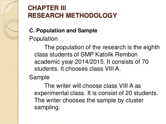 population and sampling in research proposal