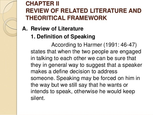 research for public speaking review of related literature with filipino author 25 chapter-2 review of related literature 210 introduction first chapter deals with the conceptual frame work of the present research.