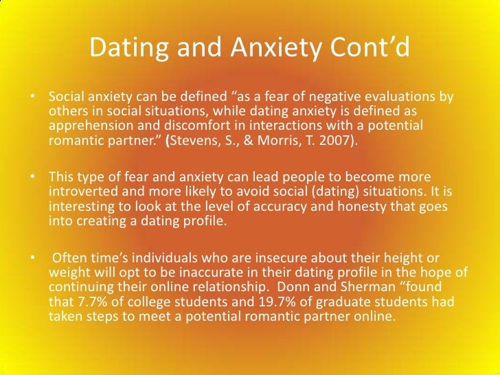 Dating someone with anxiety involved means