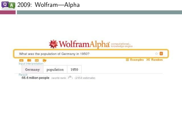 2009: Wolfram—Alpha