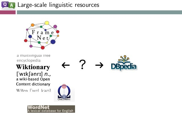 Large-scale linguistic resources