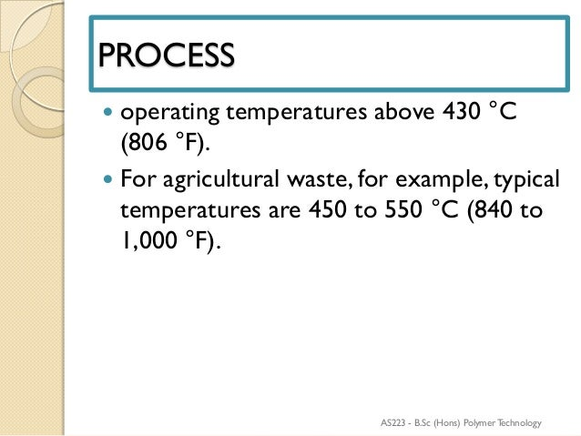 Presentation pyrolysis