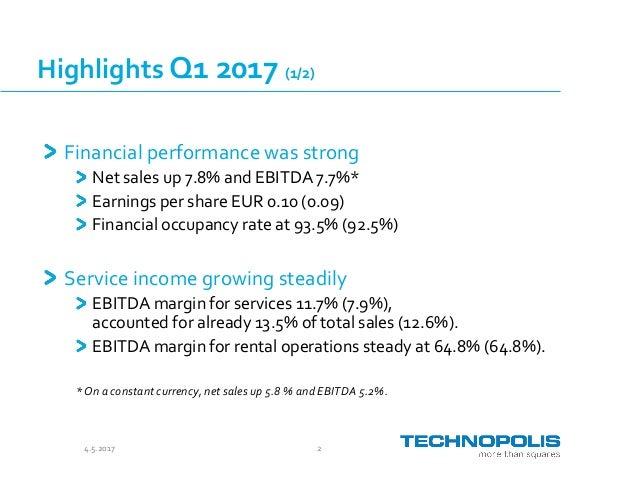 Technopolis Presentation Q1 2017 Slide 2