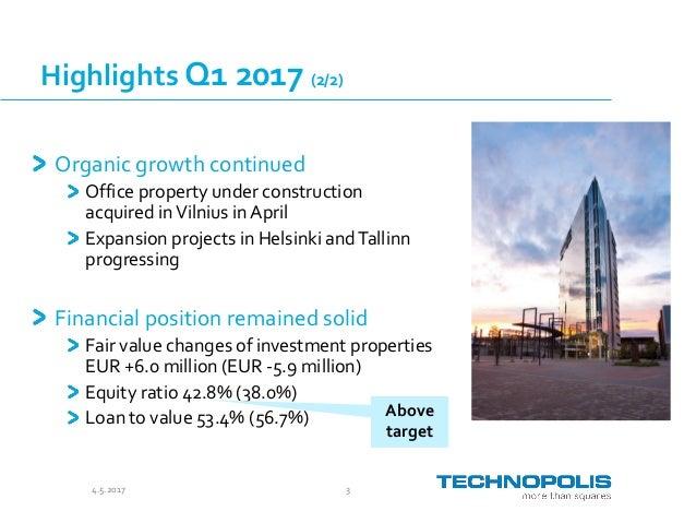 Technopolis Presentation Q1 2017 Slide 3