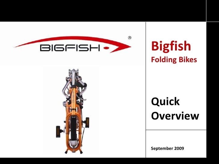 BigfishFoldingBikes<br />QuickOverview<br />September 2009<br />