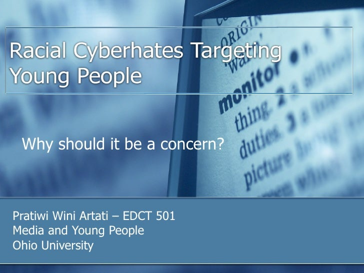 Why should it be a concern? Pratiwi Wini Artati – EDCT 501 Media and Young People Ohio University