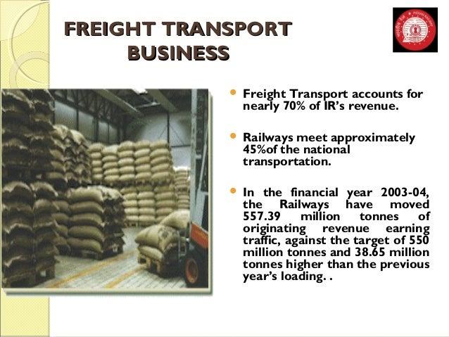 FFRREEIIGGHHTT TTRRAANNSSPPOORRTT  BBUUSSIINNEESSSS   Freight Transport accounts for  nearly 70% of IR's revenue.   Rail...