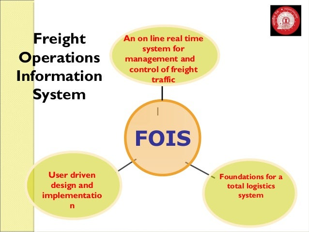 Freight  Operations  Information  System  An on line real time  system for  management and  control of freight  traffic  F...