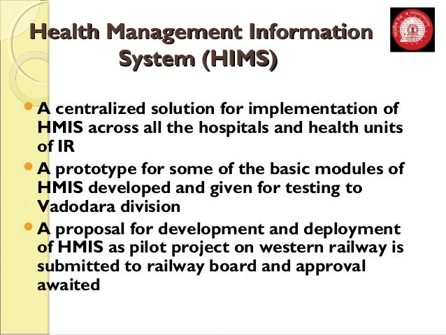 HHeeaalltthh MMaannaaggeemmeenntt IInnffoorrmmaattiioonn  SSyysstteemm ((HHIIMMSS))  A centralized solution for implement...
