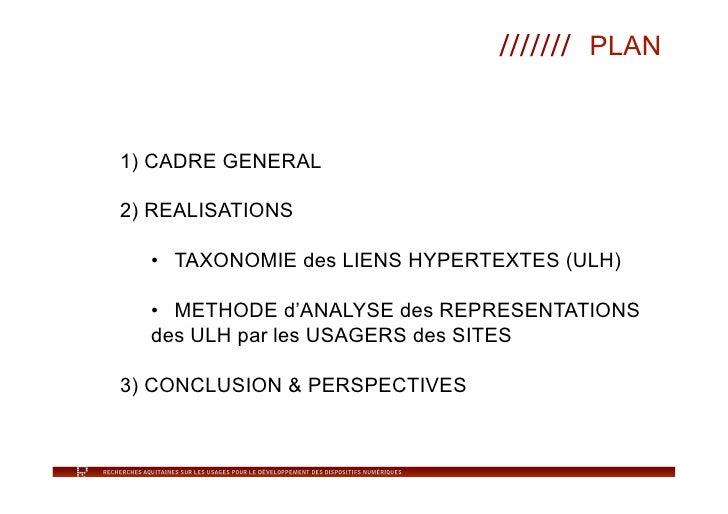 Taxonomie liens hypertextes Slide 2