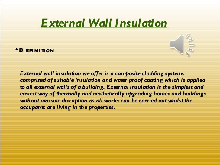 ETICS External Thermal Insulation Composite Systems