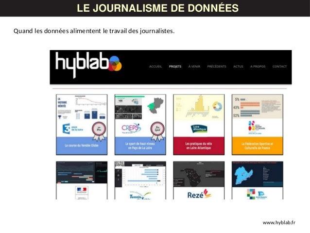 LES DONNÉESLE JOURNALISME DE DONNÉES www.hyblab.fr Quand les données alimentent le travail des journalistes.
