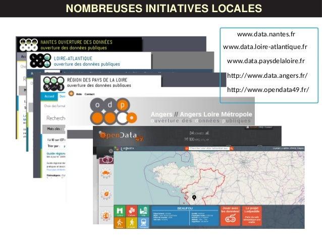 www.data.nantes.fr www.data.loire-atlantique.fr LES DONNÉESNOMBREUSES INITIATIVES LOCALES www.data.paysdelaloire.fr http:/...