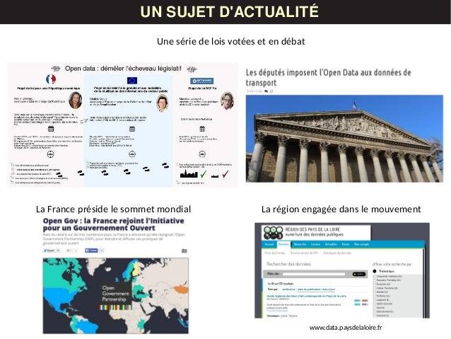 UN SUJET D'ACTUALITÉ La France préside le sommet mondial Une série de lois votées et en débat La région engagée dans le mo...