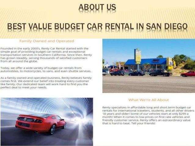 Cheap Rental Cars San Diego >> Renty Car Rental