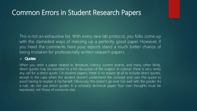 general form of a research paper The typical research paper is a highly codified rhetorical form [1,2]  should be  precise and not merely identify a general area of inquiry.