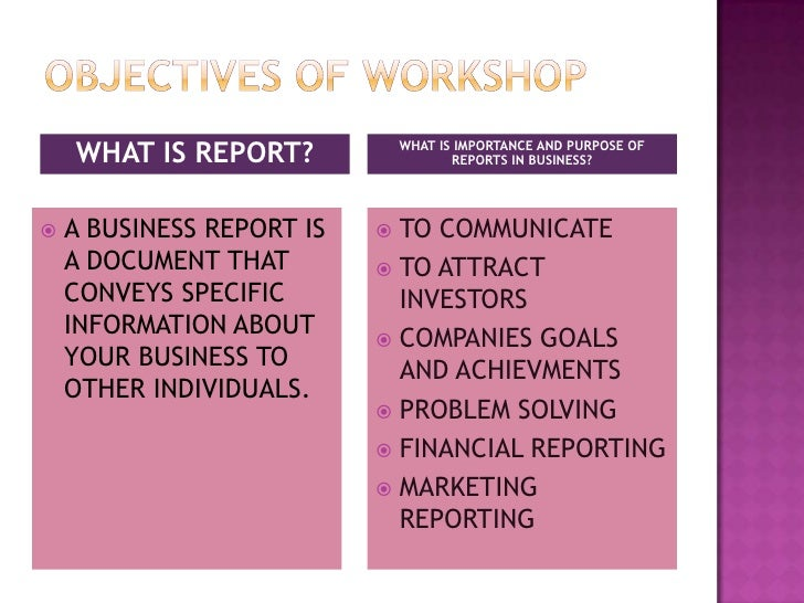 Effective Report Writing