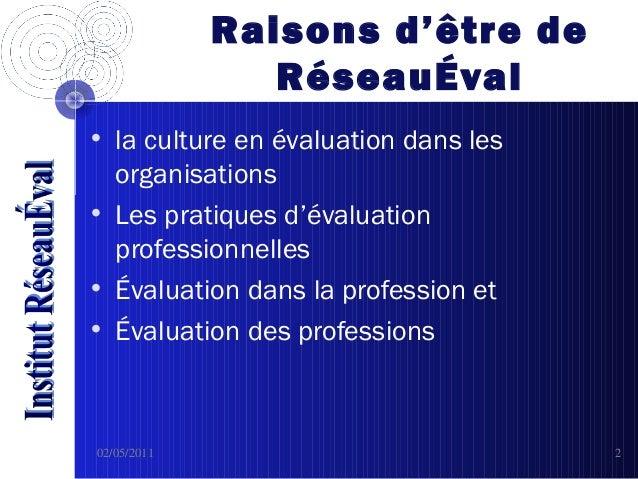 RéseauEval Slide 2
