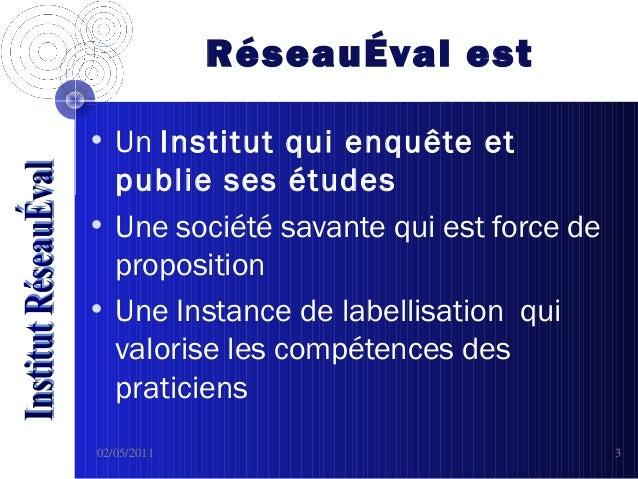 RéseauEval Slide 3