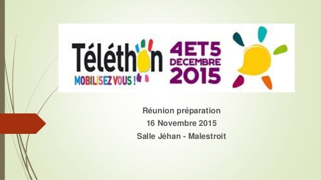 Réunion préparation 16 Novembre 2015 Salle Jéhan - Malestroit
