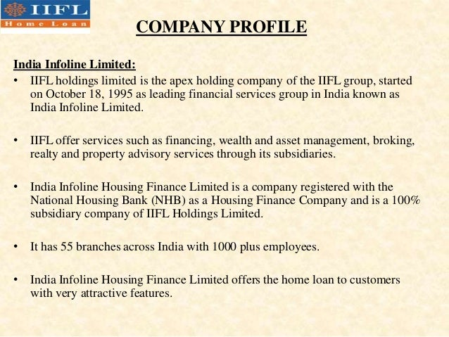 INDIA INFOLINE COMPANY PROFILE EBOOK DOWNLOAD