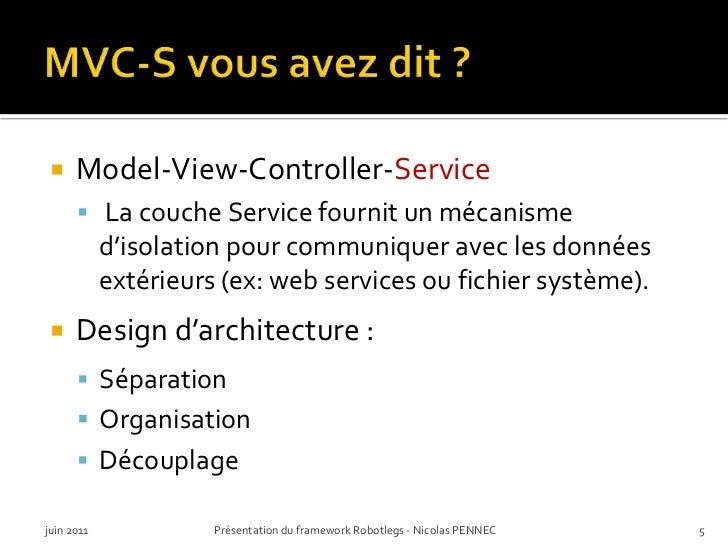 MVC-S vous avez dit ?<br />Model-View-Controller-Service<br />La couche Service fournit un mécanismed'isolation pour commu...