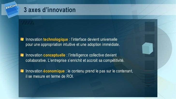 3 axes d'innovationInnovation technologique : l'interface devient universellepour une appropriation intuitive et une adopt...