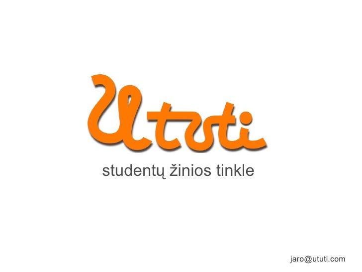 studentų žinios tinkle [email_address]