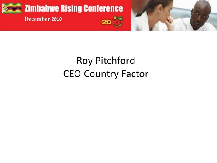 Roy Pitchford<br />CEO Country Factor<br />