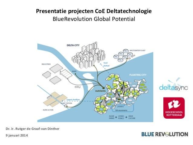 Presentatie projecten CoE Deltatechnologie BlueRevolution Global Potential Dr. ir. Rutger de Graaf-van Dinther 9 januari 2...