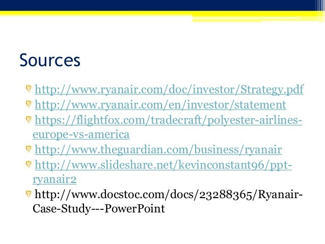 strategic management of ryan air