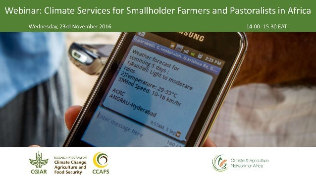 Jim Hansen, CCAFS Flagship 2 Leader, IRI Webinar: Climate Services for Smallholder Farmers and Pastoralists in Africa 23 N...