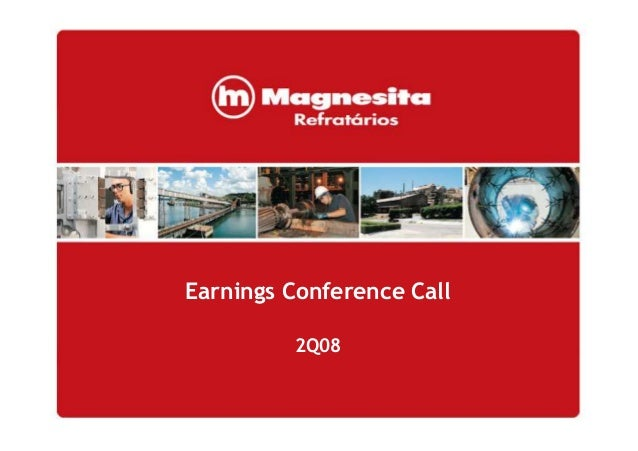 Earnings Conference Call 2Q08