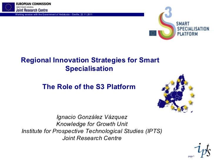page  Ignacio González Vázquez Knowledge for Growth Unit Institute for Prospective Technological Studies (IPTS) Joint Rese...