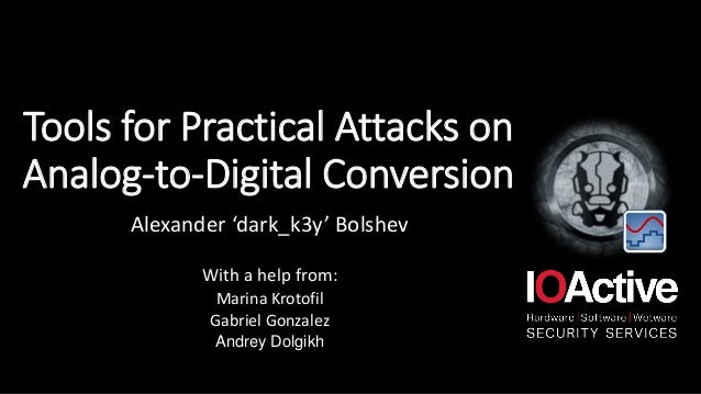 Tools for Practical Attacks on Analog-to-Digital Conversion