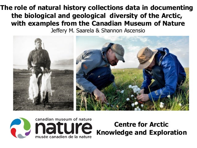 Centre for Arctic Knowledge and Exploration The role of natural history collections data in documenting the biological and...