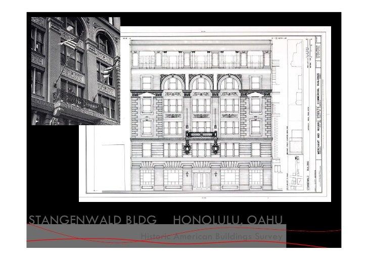 STANGENWALD BLDG    HONOLULU, OAHU              Historic American Buildings Survey