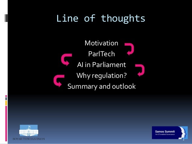 To Regulate or not to Regulate - Opening the AI Black Box for Parliaments  Slide 2